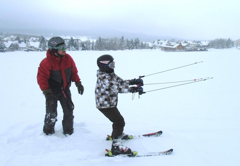Snowkiting a děti