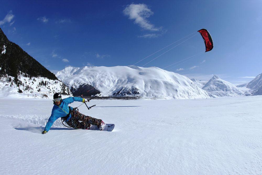 Snowkiting - snowboard nebo lyže?